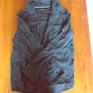 Boys gray button-down